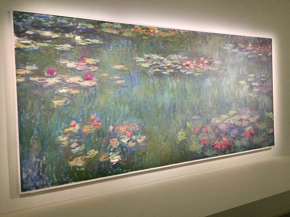 モネ「睡蓮の池、緑の反映」